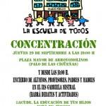 Concentración Educación Pública en Arroyomolinos