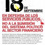 El 18 de Septiembre ¡Defiende lo Público! 19:00 h Pza. de Cibeles