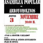 Asamblea Arroyomolinos jueves 3 de noviembre