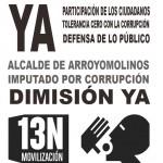 Cartelería 13N y situación ayuntamiento de Arroyomlinos