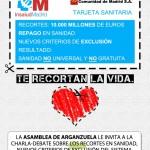 Charla-debate sobre recortes en sanidad parque de Arganzuela