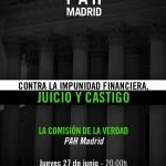 """Jueves 27 acto de la Comisión de la Verdad: """"Contra la Impunidad Financiera: juicio y castigo"""""""